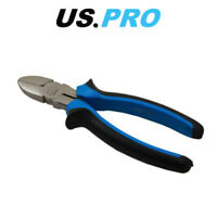 "US PRO 7"" (175MM) NI-FE Finish Comfort Grip Diagonal Side Cutting Pliers 2214"
