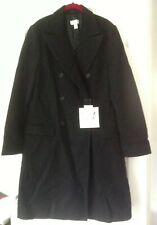 Rare Karl Lagerfeld H&M 92% Wool & 8% Cashmere Black Coat Size 18, Brand New Tag