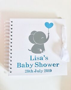 Personalised Baby Shower Guest Book, Many colour combos available