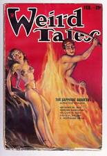 "Pulp WEIRD TALES February 1934 - Robert E. Howard ""Valley of the Worm"" - VG/F"