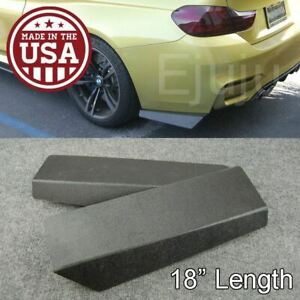 "18"" Rear Bumper Lip Apron Splitter Diffuser Valence Bottom Line For Honda Acura"