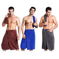 Men Bath Towels Fast Drying Wearable Microfiber Towel Shower Wrap Beach Bathrobe