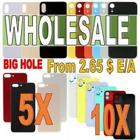 Wholesale Lot Rear Back Glass Replacement Housing iPhone XR XS Max X 8 Plus 11