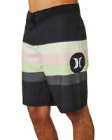 "Hurley Men's SZ 30"" Salt Creek Black Pink Green 20"" Board Shorts Swim Trunks"