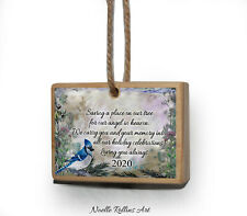 Blue Jay remembrance Christmas ornament memorial gift