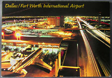 Dallas Texas Postcard Fort Worth International Airport Night   (d210)