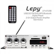 Bluetooth Hi-Fi Mini Power Amplifier MP3 FM USB SD Car Audio Home AMP w/ Remote