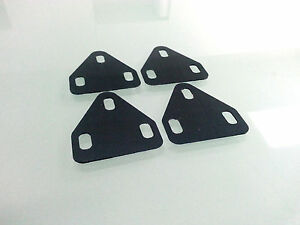 Universal pedals cleat WEDGE bike spacer shim Varus/Valgus: 4 pcs of 1.5 Degree