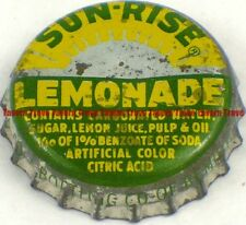 1950s Minnesota BEMIDJI Coca Cola SUN-RISE LEMONADE SODA Cork Crown