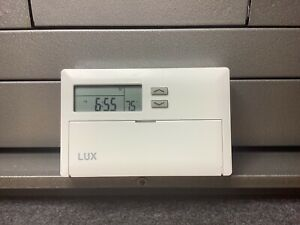 LUX TX500 TX500E 24V Heat and AC Thermostat Battery Powered 5+2 Day Programmable
