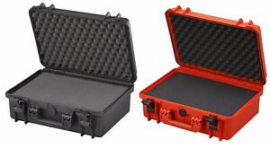 Waterproof Dustproof IP67 Rated Large Hard Protective Camera Case + Cubed Foam!