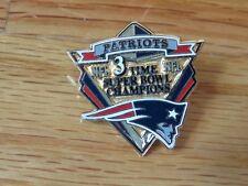 "2005 SUPER BOWL XXXIX NEW ENGLAND PATRIOTS 3 Time Champions 1.5"" Pin"