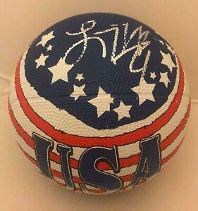 Lindsay Whalen Minnesota Lynx signed Team USA mini Basketball Ball autographed