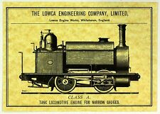 NEW Postcard Lowca Engineering Company Locomotive Whitehaven West Cumbria