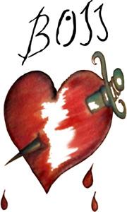 Frank N Furter Rocky Horror Show Heart BOSS Replica TEMPORARY TATTOO FANCY DRESS