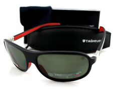 POLARIZED New TAG Heuer LEGEND Black Red Grey Pilot Sunglasses TH 9301 102 64mm