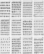 12 Pack, 4 X 7 Inch Alphabet Stencils Letter Stencil, Lettering Alphabet Stencil