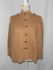 FOREVER NEW, SIZE 10, TAN KNIT CARDIGAN/PONCHO/CAPE