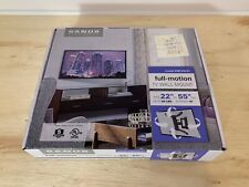 """SANUS Simplicity 22"""" to 55"""" Full-Motion TV Wall Mount   Up to 60 lbs   SMF218-B1"""