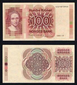 Norvegia / Norges - 100 kroner 1994 SPL/XF  A-01