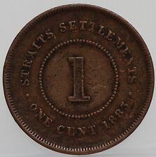 Straits Settlements -  1 cent one cent 1883 Queen Victoria KM# 9