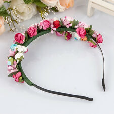 Flower Garland Floral Bride Headband Hairband Wedding Party Prom Festival Decor