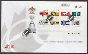 Canada 2012 FDC MS 100th Grey Cup Game