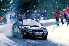 Carlos Sainz SUBARU IMPREZA 555 Monte Carlo Rally 1994 Fotografia