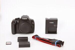 Canon EOS Rebel 1200D 18.0 MP DSLR Camera - Black (Body Only) Low Shutter 1759