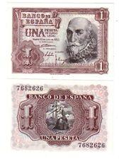ESPAÑA 1 peseta 1953 SIN SERIE Y PLANCHA Marques de Santa Cruz