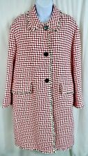 Kate Spade Add a Layer of Meaning Pink Multi Plaid Tweed Coat Pockets Women 6