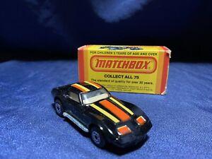 NEW! MATCHBOX LESNEY SUPERFAST #62 CHEVY CORVETTE RARE SILVER BASE VINTAGE 1982