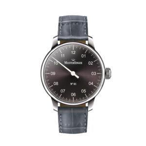 *Genuine New* Meistersinger Gents Single Hand Black Leather Watch AM3307