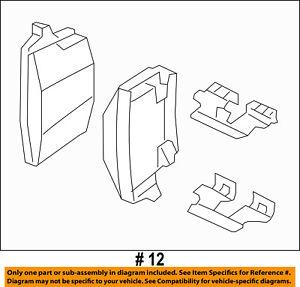 CHRYSLER OEM Brake-Rear Pads 5142561AB