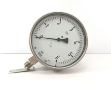 "Wika Manometer senkrecht | Edelstahl | Ø160mm | 0-6 bar | 1/2"" mit Messumformer"