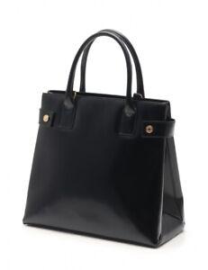 GUCCI Vintage Black Patent Leather Tote Bag
