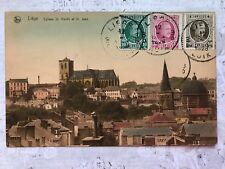 Liege Belgium St.Martin Church original Old Postcard c.1928