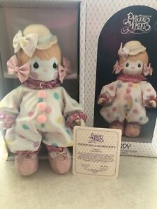 """Precious moments porcelain clown doll,""""Candy"""" pre-owned limited edition -RARE!"""