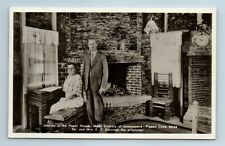 Rppc Pigeon Cove Rockport Ma Interior Paper House Made of Newspapers Postcard