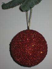 Ensemble de Deux Boules Noël Décorations pour Arbre 11,5 cm Rouge Nr.00059 Neuf