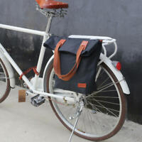 Tourbon Waterproof Canvas Single Bike Rear Pannier Seat Bag for Commuter Clip on