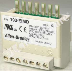 Allen Bradley 193-EIMD /A AC Input Interface Module for E3 Overload Relay Qty