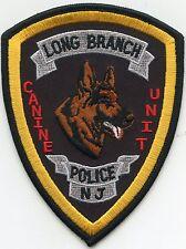 LONG BRANCH NEW JERSEY NJ Canine Unit K-9 POLICE PATCH