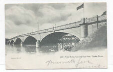 1906 TOPEKA KS KANSAS MILAN BRIDGE ON KEW RIVER POSTCARD PC7393