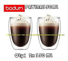 IN BOX BODUM PAVINA DOUBLE WALL CLEAR THERMO-GLASSES x2 350ML