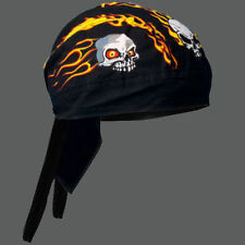 FLAME SKULLS BIKER HEAD WRAP  CAP