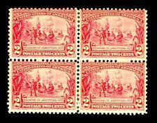 momen: US Stamps #329 Block of 4 Mint OG Fine