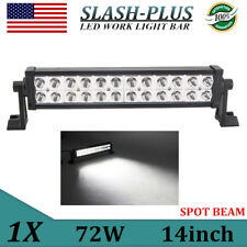 14Inch 72w Light Bar Philips LED Work Spot Driving Truck SUV 4X4WD Offroad SLIM