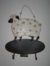 Painted Metal Sheep Plaque Sign Country Farm Wall Decor Nantucket Made in China