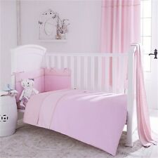 Izziwotnot Cot bed 5 piece luxury Quilt bedding bale in Pink Girls nursery set